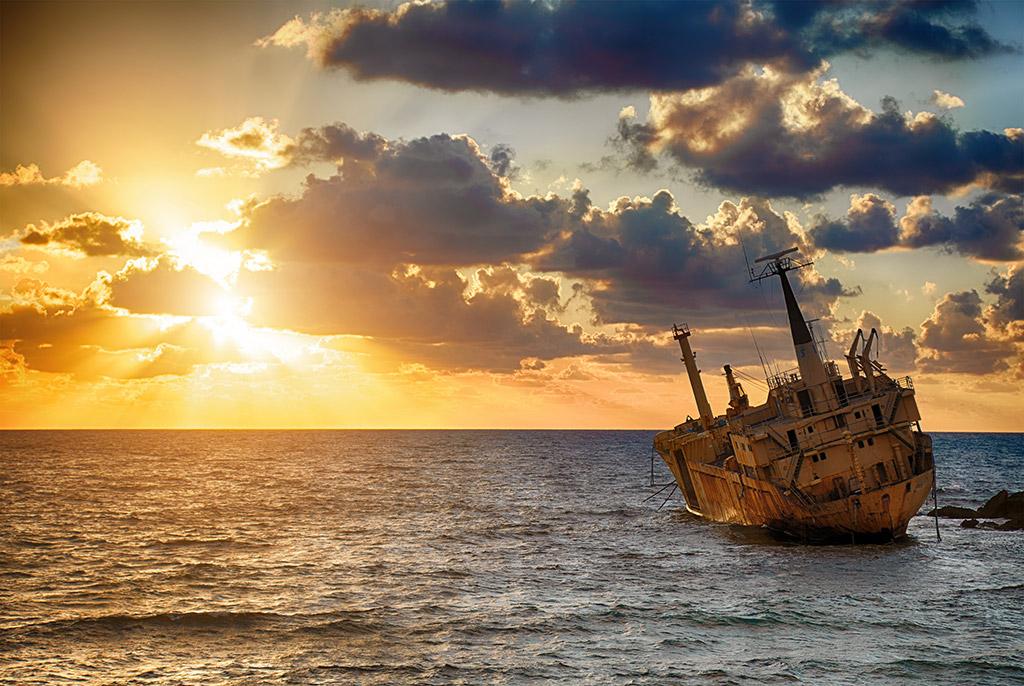 Olupina broda Edro III Pafos Pegia Kipar