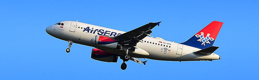 Avion našeg nacionalnog avio prevoznika AirSerbia