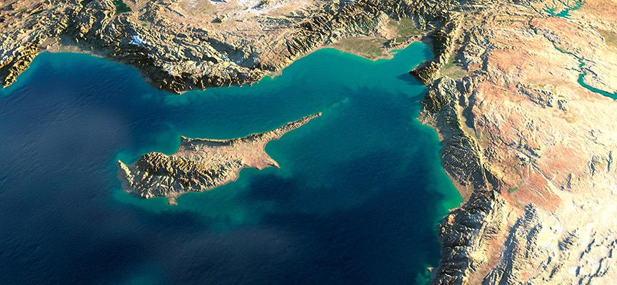 Satelitski snimak Kipra