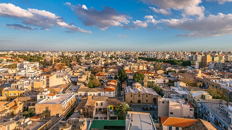 Nikozija Kipar panorama