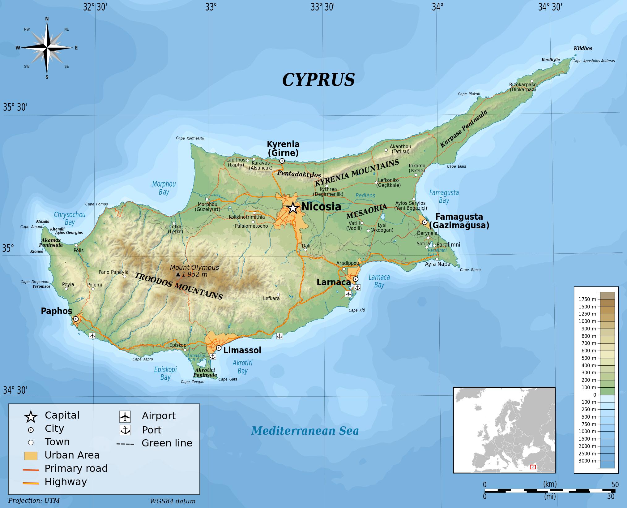 Mape Kipra Moj Kipar Vas Vodic 1 Za Kipar