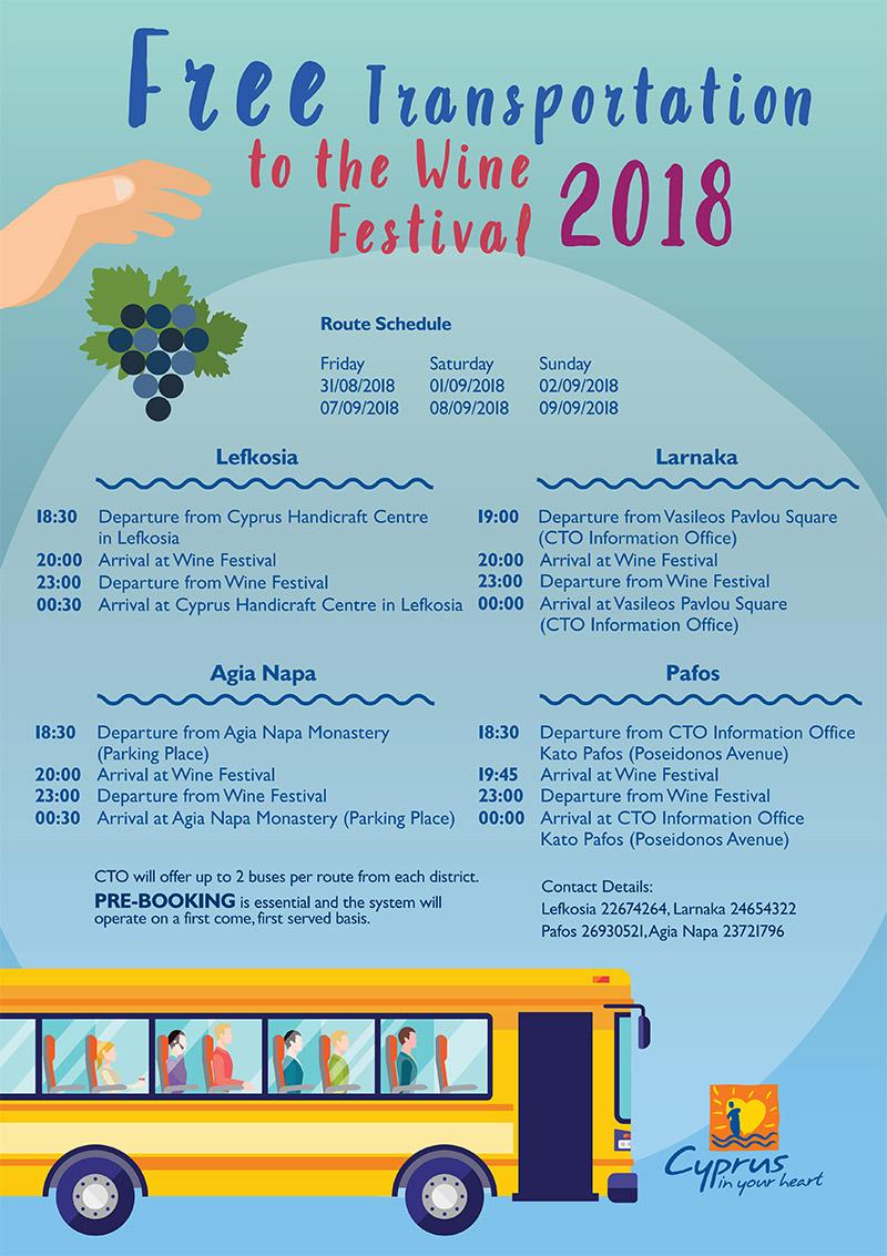 Festival vina Limasol Kipar prevoz