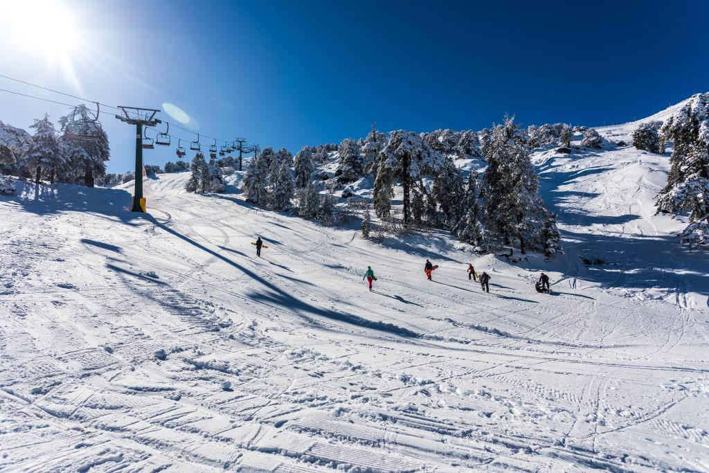 Skijanje na planini Trodos na Kipru
